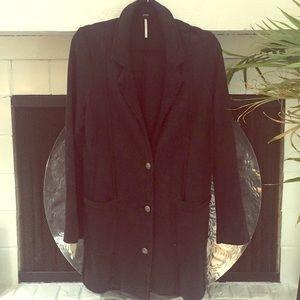 Free People black cotton jacket, lightly worn